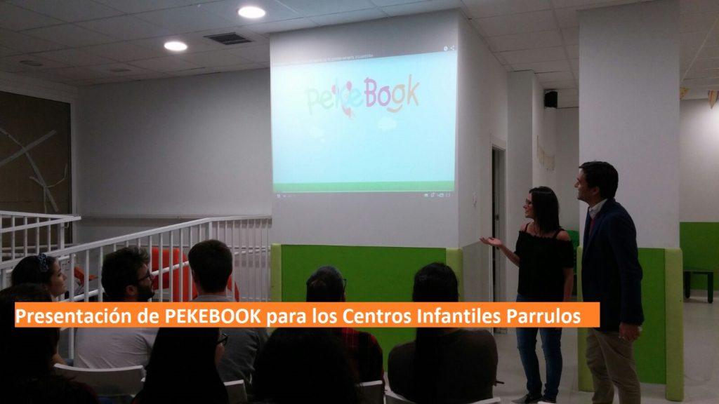 presentación en parrulos de la agenda infantil digital pekebook